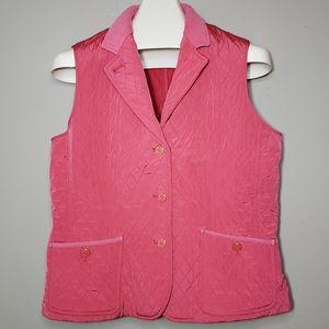 Talbots pink/ coral vest Size M